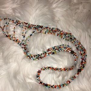 Necklace colorful beaded long necklace
